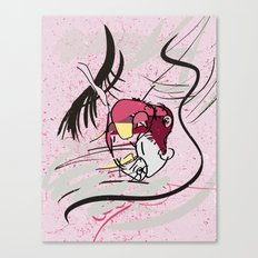 80s Heart Canvas Print