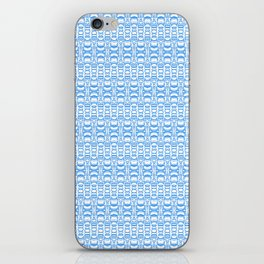 Dividers 07 in Light Blue over White iPhone Skin