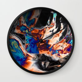 The oil is glitching Wall Clock
