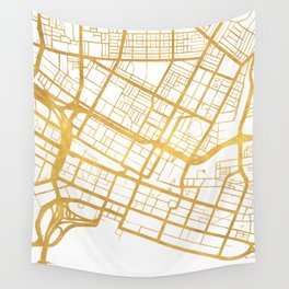 PERTH AUSTRALIA CITY STREET MAP ART Wall Tapestry