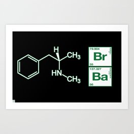 Breaking Bad Methamphetamine Black Art Print