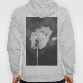 Dandelion in the Wind (black white) Hoody