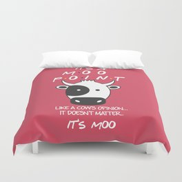 It's Moo! - Friends TV Show Duvet Cover