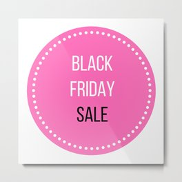 Black Friday sale icon : Stylish marketing Icon Pink! Metal Print