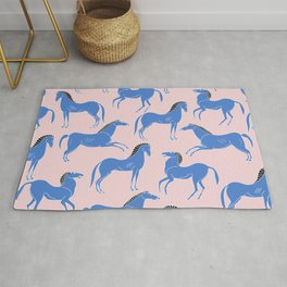 ancient greek pottery horses pattern Rug