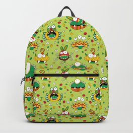 Monster Mash Green Backpack