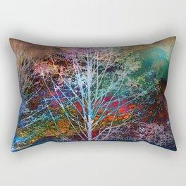trees in the night Rectangular Pillow