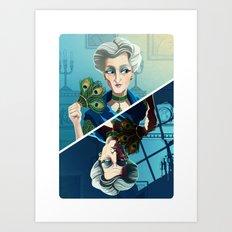 Ms Peacock Art Print