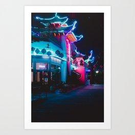 Neon Building Art Print