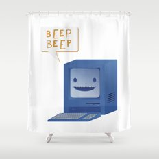 Beep Beep Shower Curtain