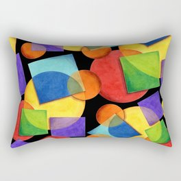 Candy Rainbow Geometric Rectangular Pillow