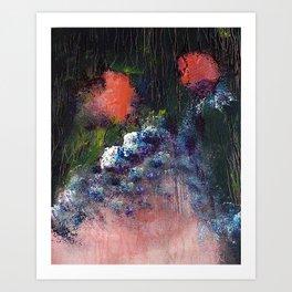 Poppy - Mixed Media Acrylic Abstract Modern Art, 2009 Art Print