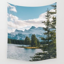 Two Jack Lake & Mt. Rundle Wall Tapestry