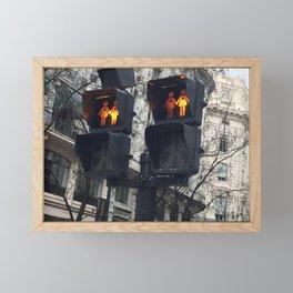 Gay Street Lights (Lesbian Couple) Framed Mini Art Print
