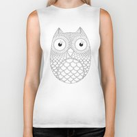 owls Biker Tanks featuring Owls by Fairytale ink