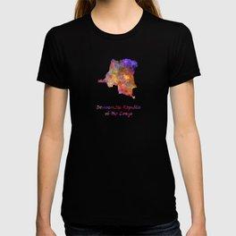 Democratic Republic of the Congo  in watercolor T-shirt