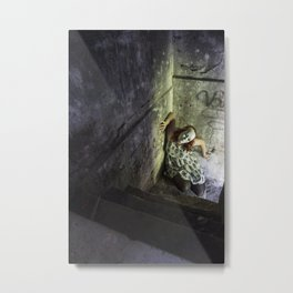Don't go in the basement. Metal Print