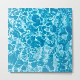 Geometric Swimming Pool - Mid Century Modern Metal Print