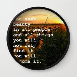 Become Beauty Wall Clock