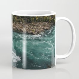 River with Rapids | Autumn Hills | Fall Colours | Landscape Photography Coffee Mug