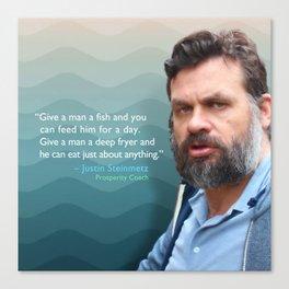 Give a Man a Fish Canvas Print