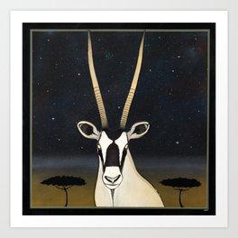 """NIGHT OF THE GEMSBOK"" Art Print"