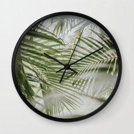 Aloha Palm Leaves // Haiku, Maui Wall Clock