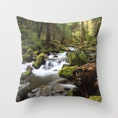 Paradise Creek IV Throw Pillow