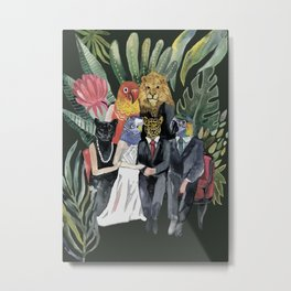 animals family portrait Metal Print