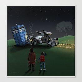 Time Machine Collision Canvas Print