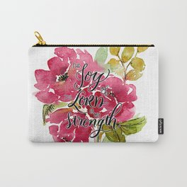 Joy of the Lord Watercolor Floral Carry-All Pouch