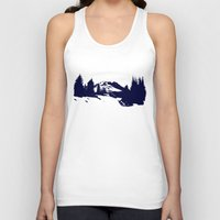 robin hood Tank Tops featuring Mt. Hood by Leah Flores