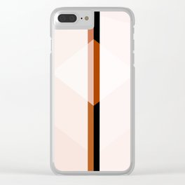 Desert Inspired | Soft Peach Tonal Color Pattern Clear iPhone Case