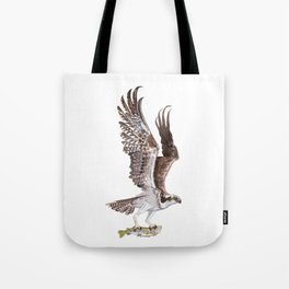 Osprey and Rainbow Trout Tote Bag