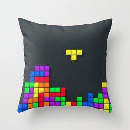 Tetris print design Throw Pillow