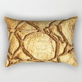 Golden tortoise shell Rectangular Pillow