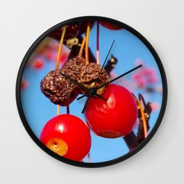 Red Berries Wall Clock