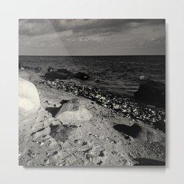 Black and white  stones Metal Print