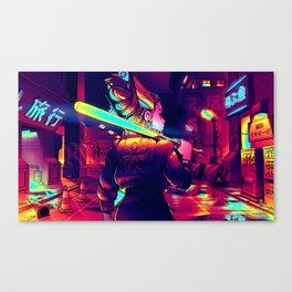 Cyberpunk Princess of Power Canvas Print