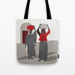 Women return from the market  Tote Bag