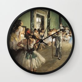 The Dance Class, Edgar Degas, 1874 Wall Clock
