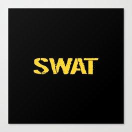 SWAT: Stencil (Gold) Canvas Print
