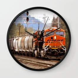 TRAIN YARD Wall Clock