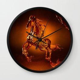 Liquid Horse Wall Clock