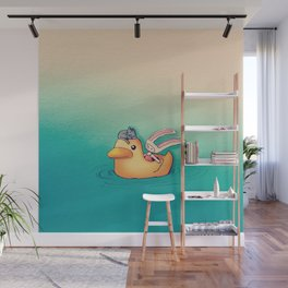 Toki and Jellybean with a duck Wall Mural