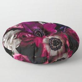 Dark Flowers 1 Floor Pillow
