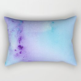 Abstract Watercolor Art Blue And Purple Modern Painting Rectangular Pillow
