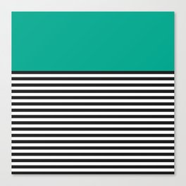 STRIPE COLORBLOCK {EMERALD GREEN} Canvas Print
