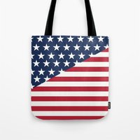 flag Tote Bags featuring Flag by dani