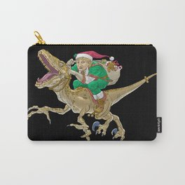 Christmas Elf Riding a Velociraptor Carry-All Pouch